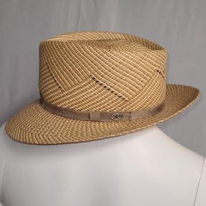 Bailey Gill Panama Straw Fedora Hat M